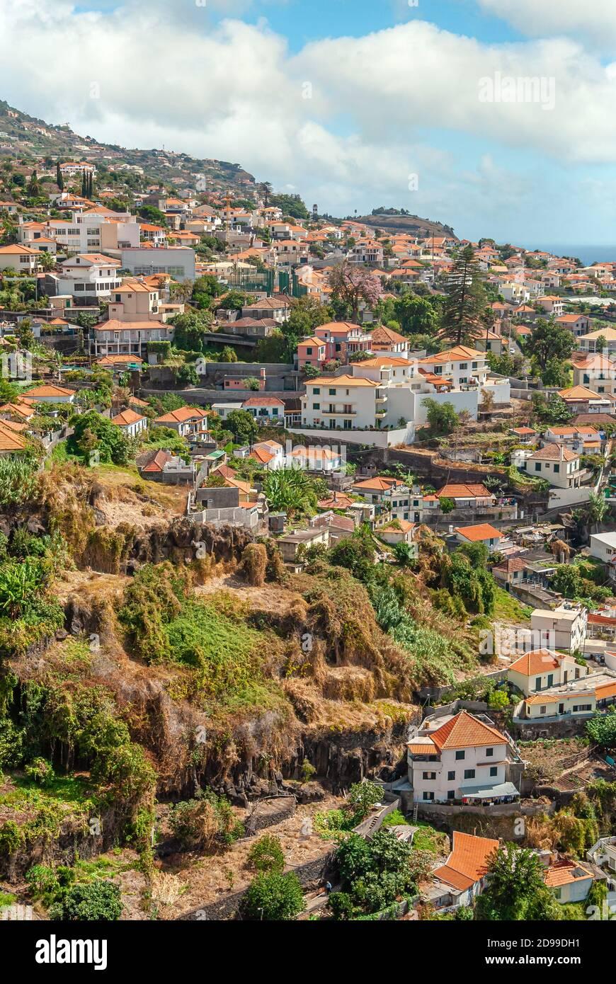 Vue sur Funchal, l'île de Madère, Portugal Banque D'Images