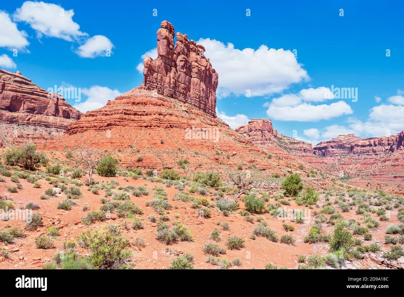 Valley of the Gods, Utah, États-Unis, Banque D'Images