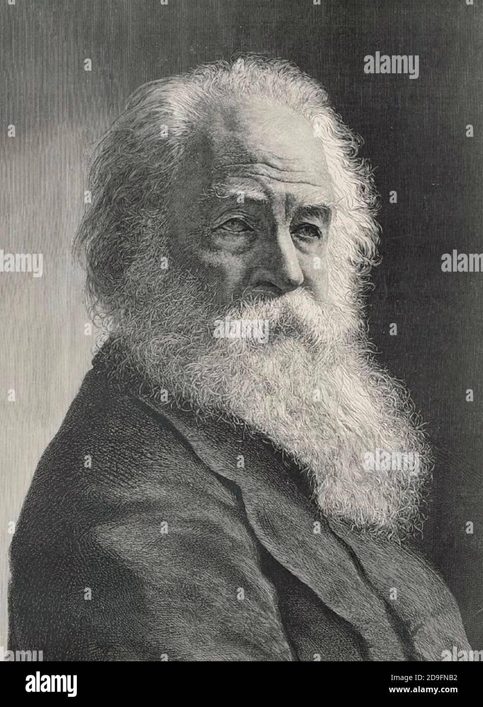 WALT WHITMAN (1819-1892) poète et essayiste américain vers 1887 Banque D'Images
