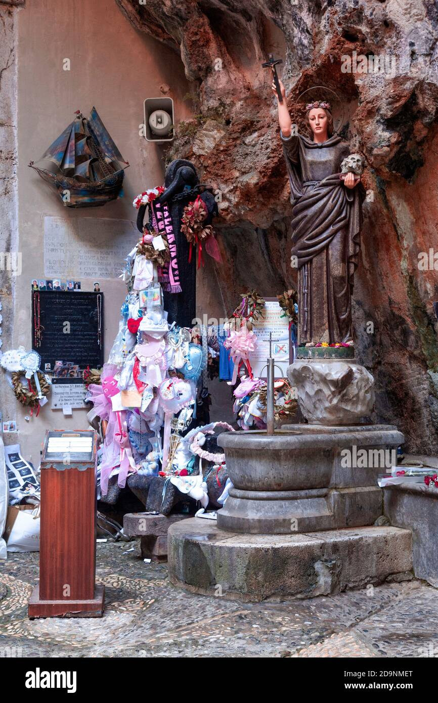 Santuario di Santa Rosalia, lieu de pèlerinage, christianisme, Palerme, Sicile, capitale, grande ville, Italie Banque D'Images