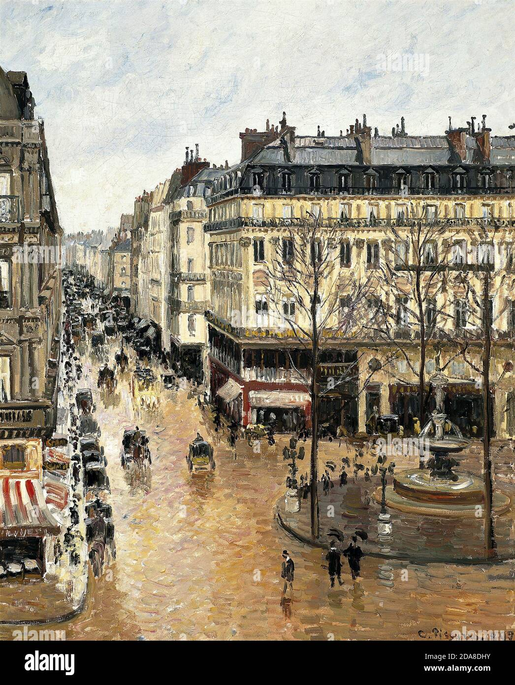 Rue Saint-Honoré, dans l'après-midi. Effet de pluie, 1897, rue Saint-Honoré, dans la pluie de l'après-midi par Camille Pissarro Banque D'Images