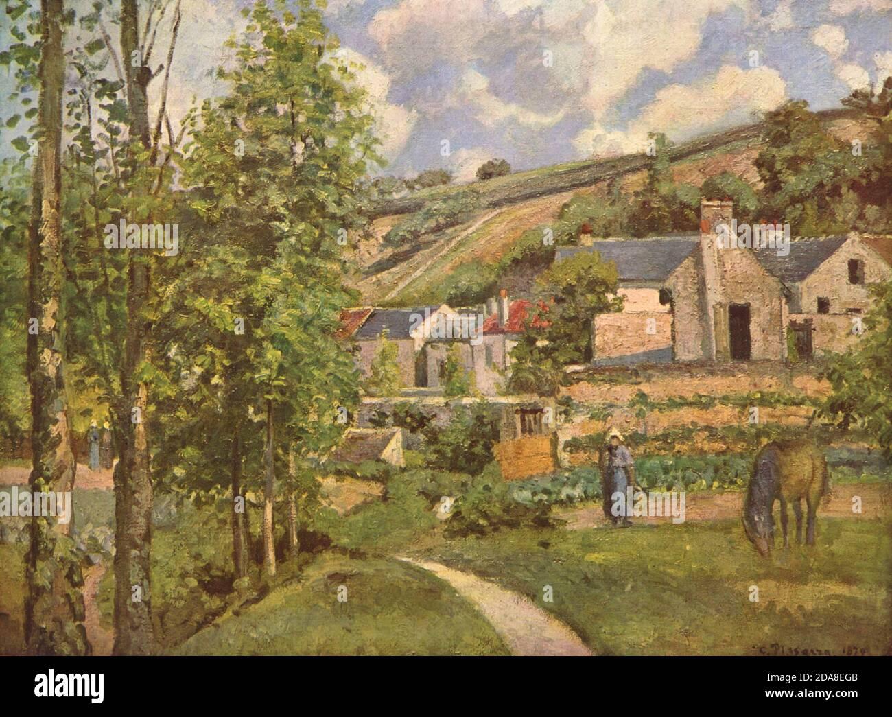 Paysage à Pontoise, 1874 par Camille Pissarro Banque D'Images