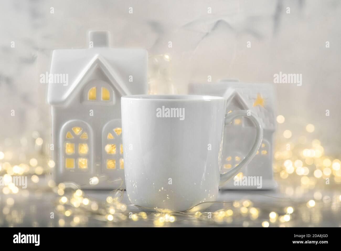 Décoration de Noël. Modèle mug pour votre style Banque D'Images
