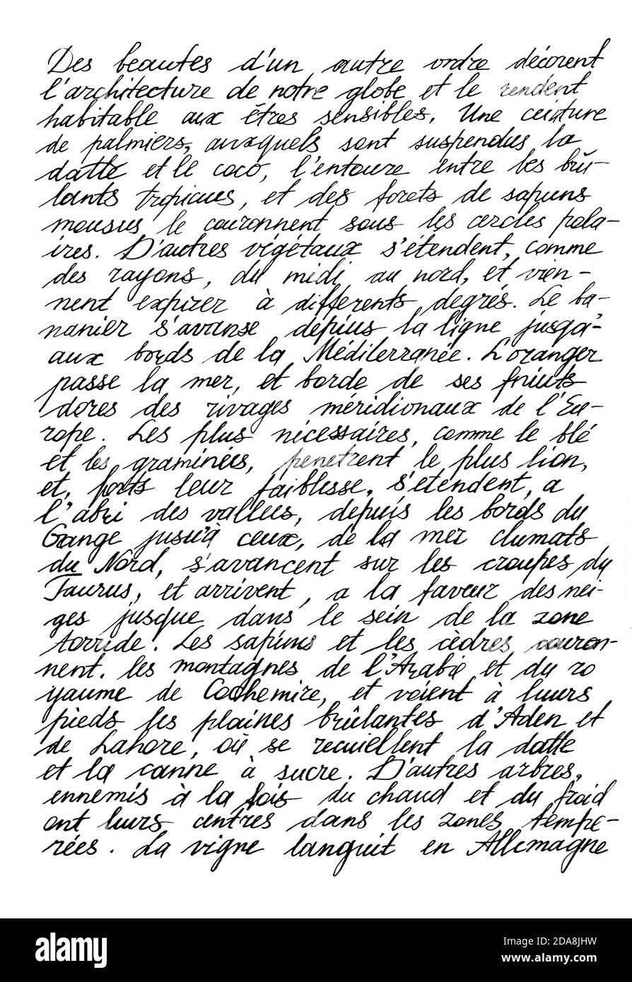 Texte manuscrit illisible. Écriture manuscrite. Calligraphie. Arrière-plan de texture abstraite Banque D'Images