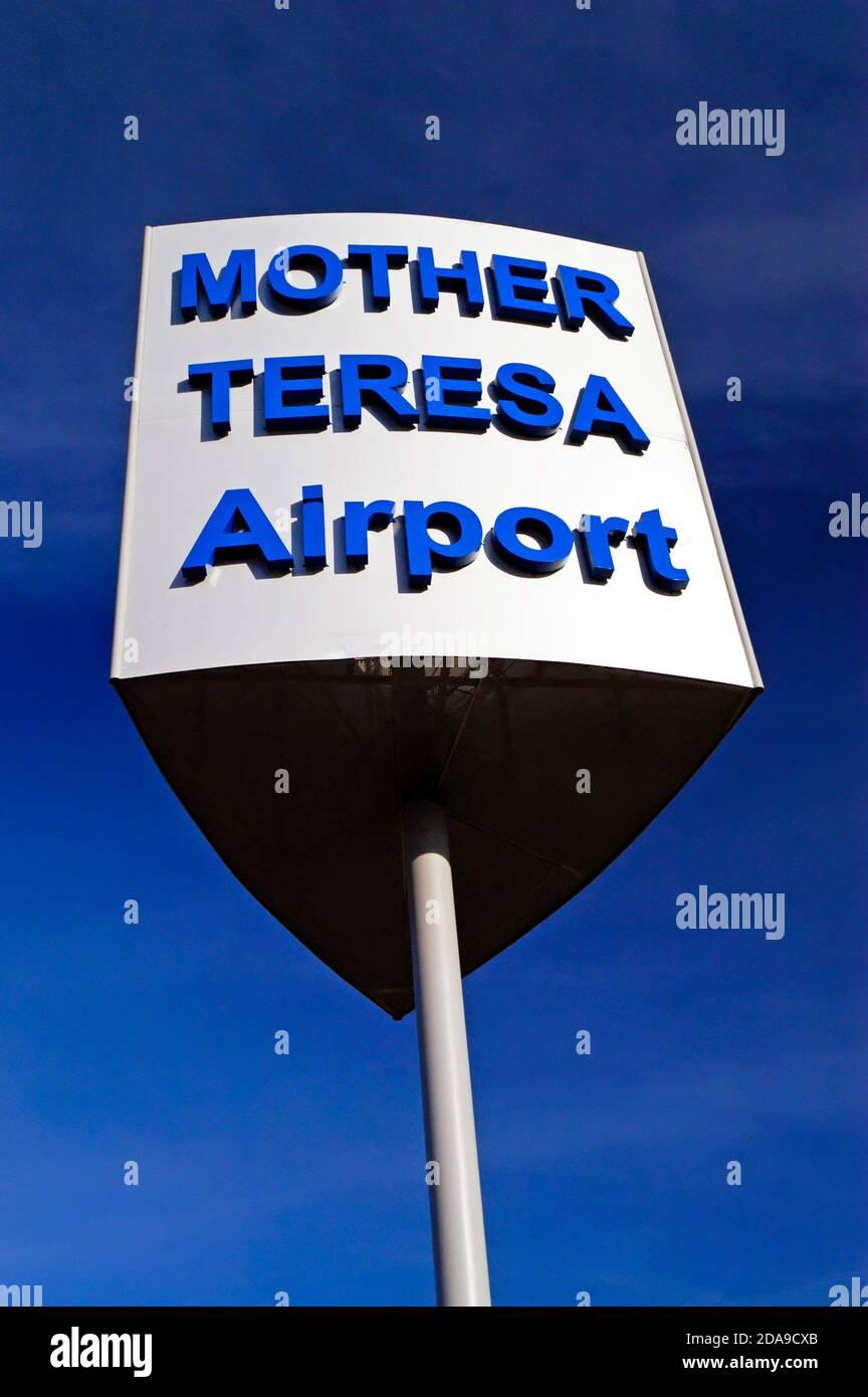 Aéroport international de mère Theresa, Tirana, Albanie Banque D'Images