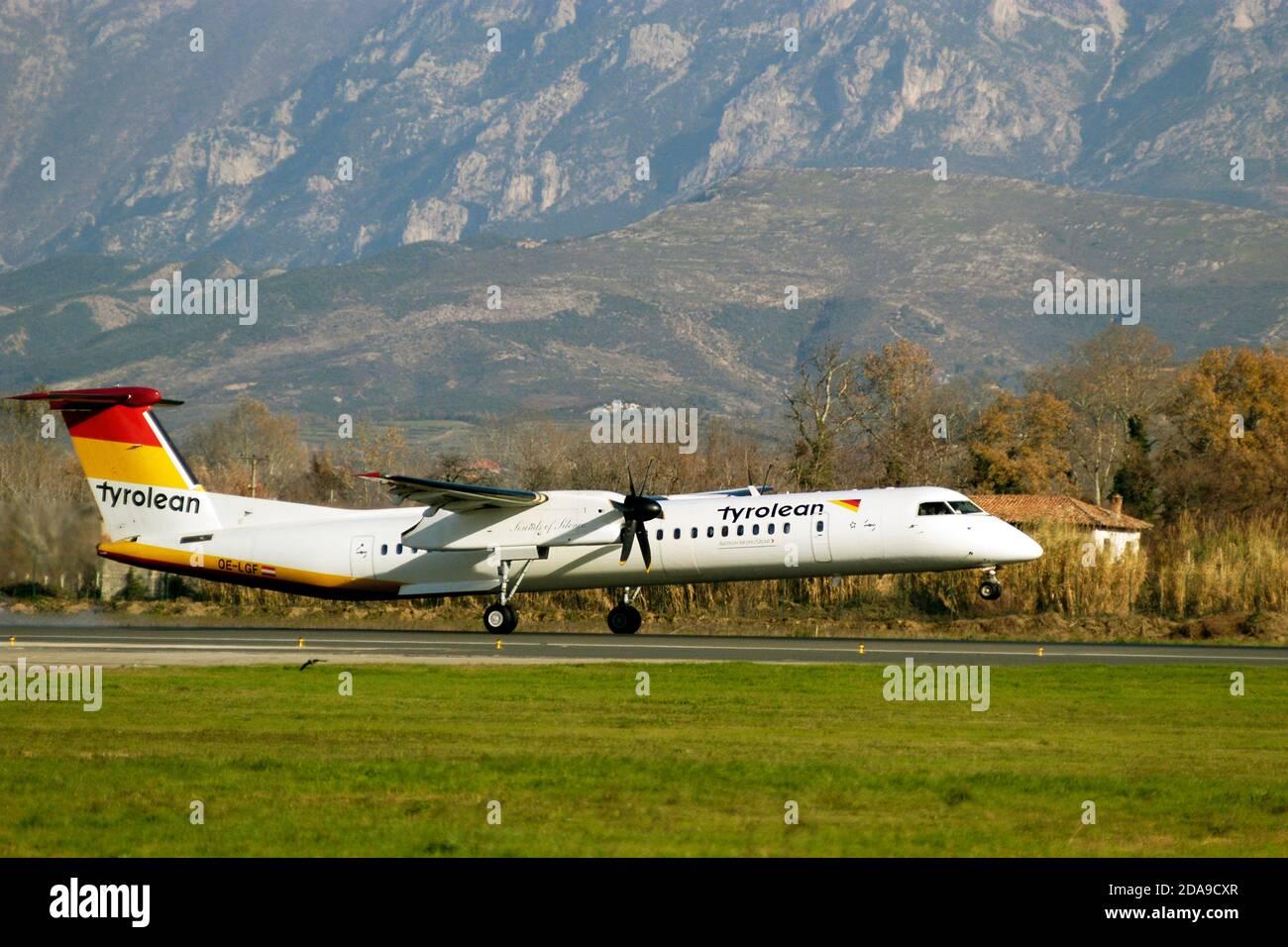 Aéroport de mère Theresa, Tirana, Albanie Banque D'Images