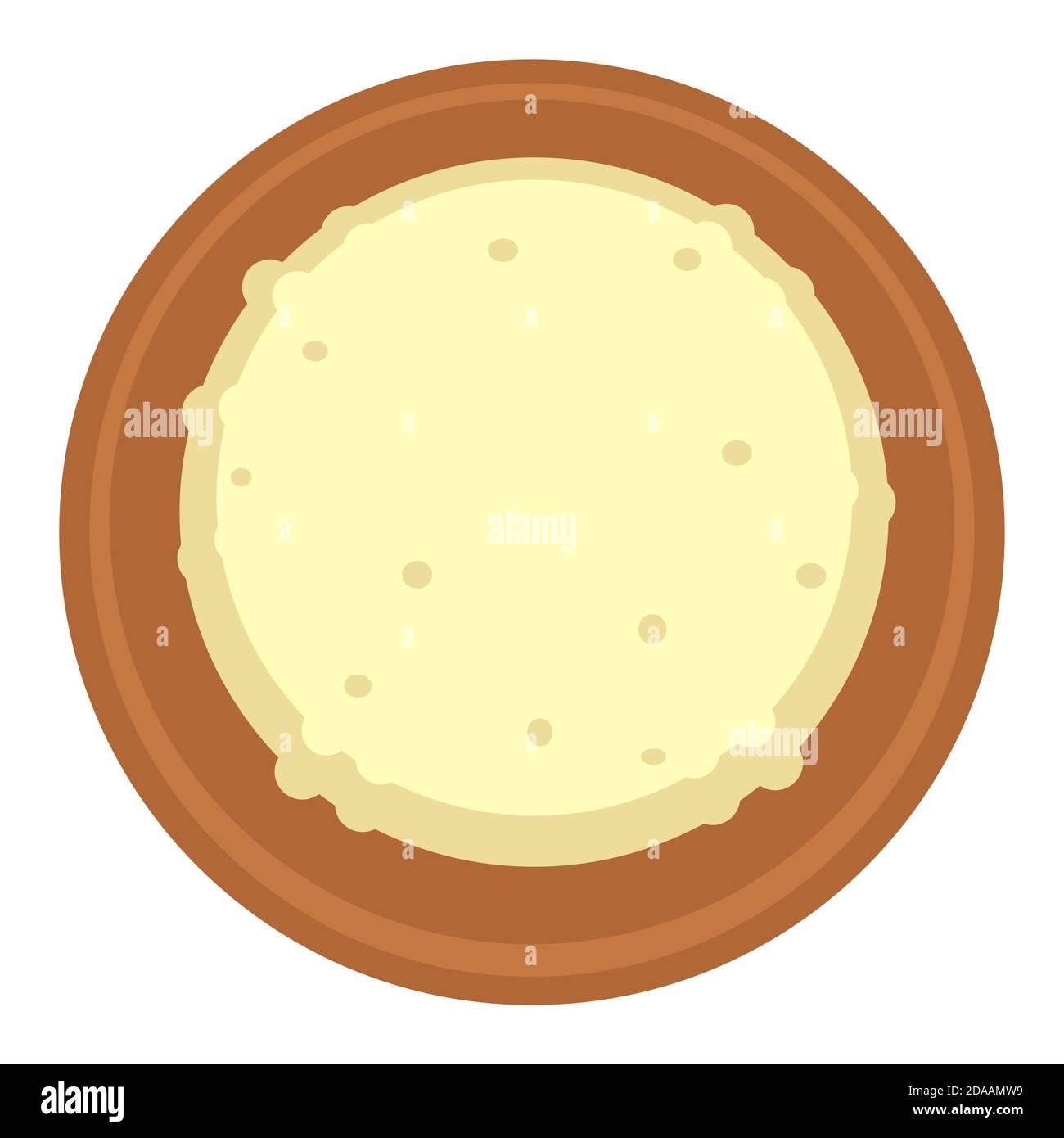 Riz dans un bol, vecteur alimentaire chinois et japonais Illustration de Vecteur