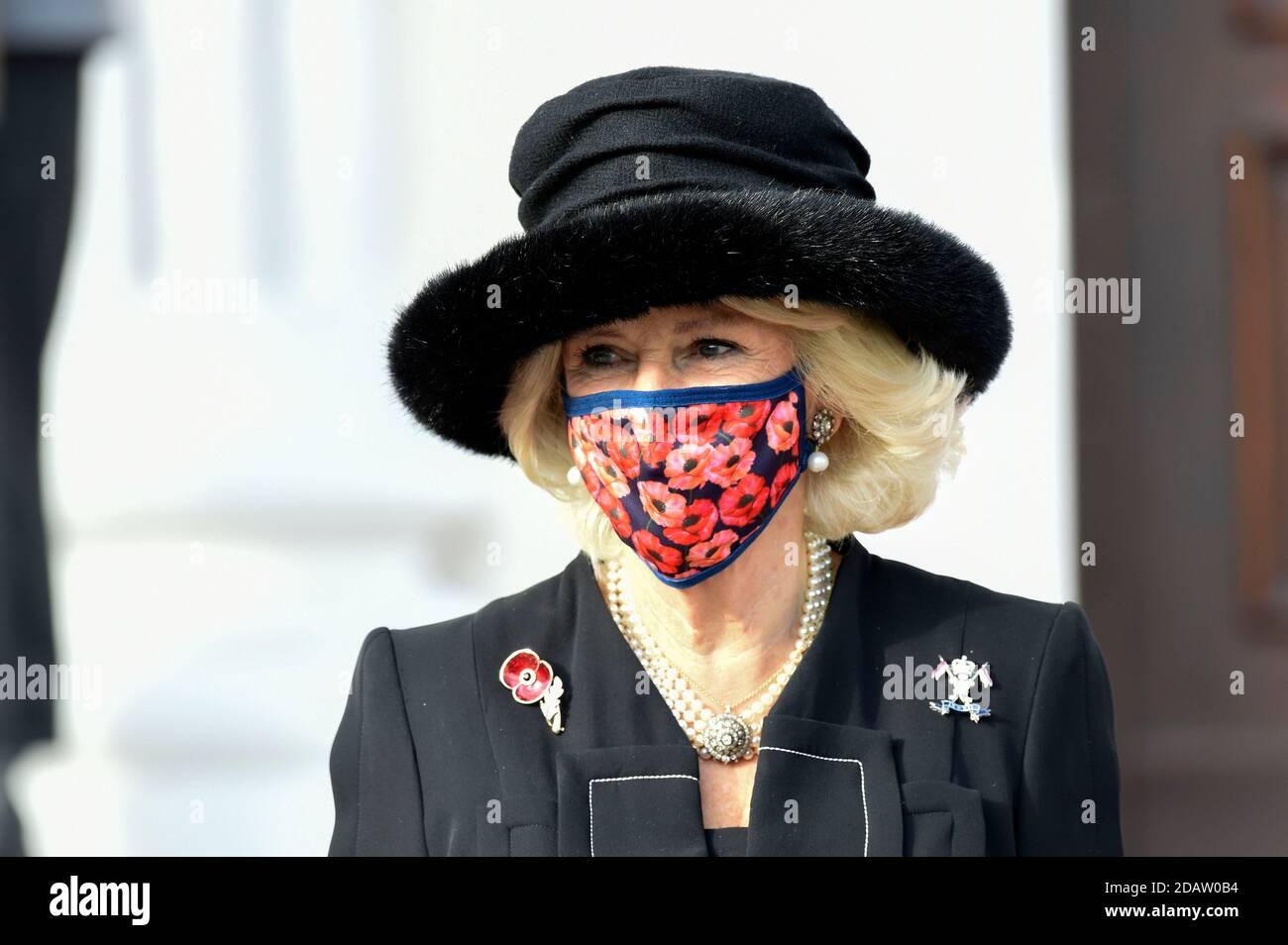 Berlin, Allemagne. 15 novembre 2020. Camilla, duchesse de Cornouailles, à la réception du Président fédéral de l'Allemagne au Palais Bellevue le 15 novembre 2020 à Berlin, Allemagne crédit: Geisler-Fotopress GmbH/Alay Live News Banque D'Images