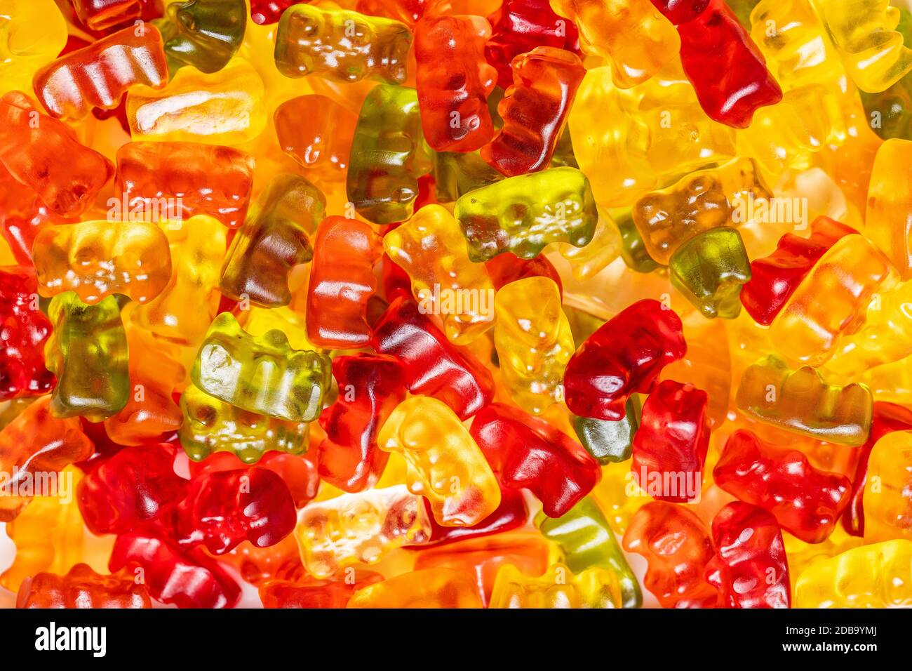 Ours en peluche, bonbons en gelée. Bonbons colorés. Banque D'Images