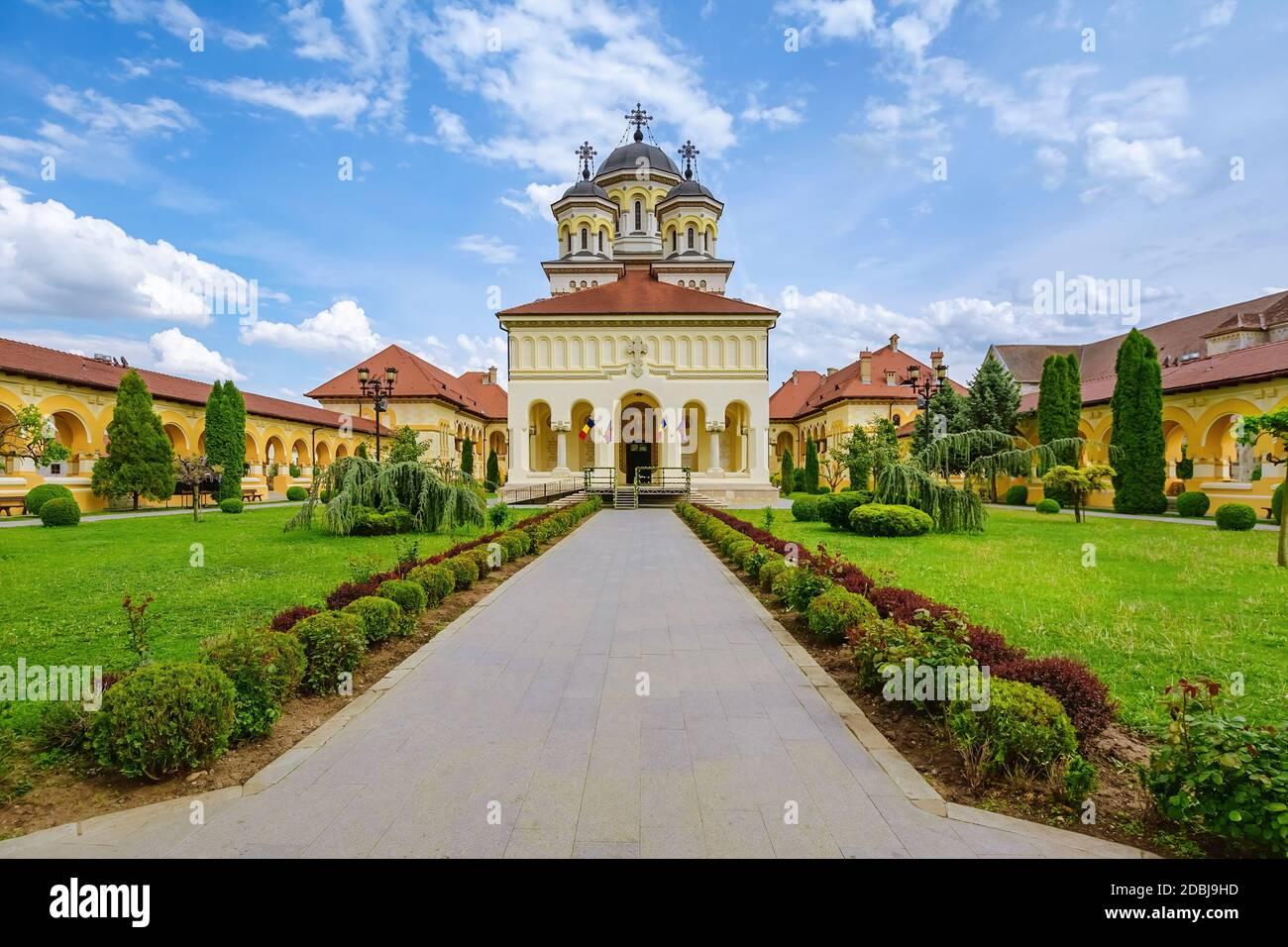Cathédrale de couronnement à la Citadelle d'Alba, en Caroline. Alba Iulia, Roumanie Banque D'Images