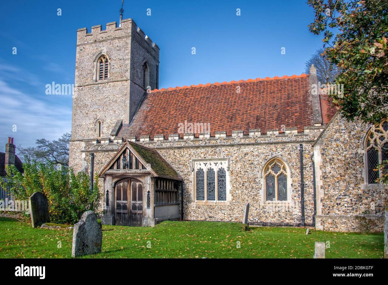 Église pardante du XIIe siècle Essex Angleterre Banque D'Images