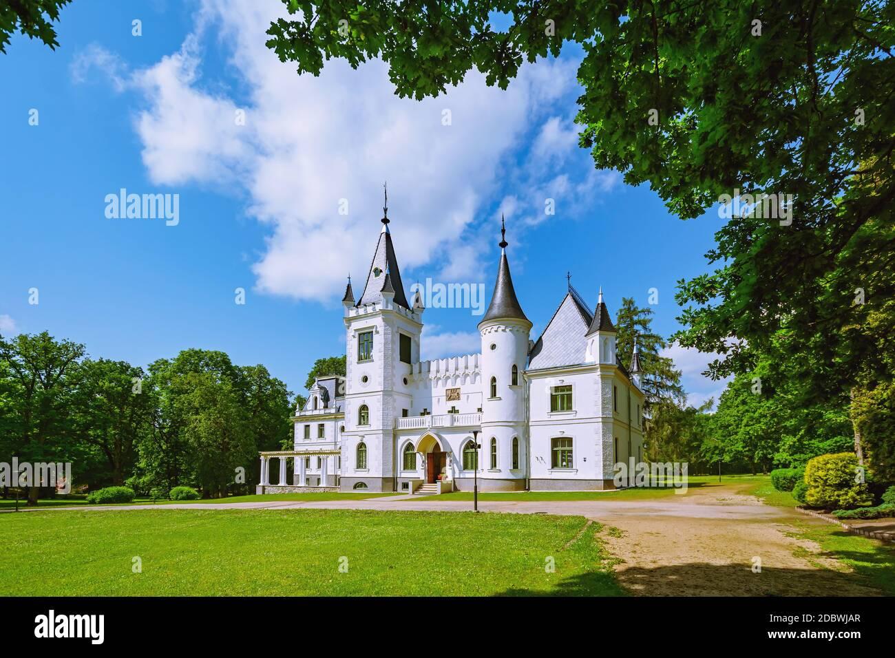 Ancien palais de Stameriena, Lettonie Banque D'Images
