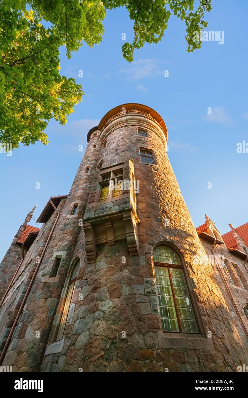 Ancien palais de Cesvaine, Lettonie Banque D'Images