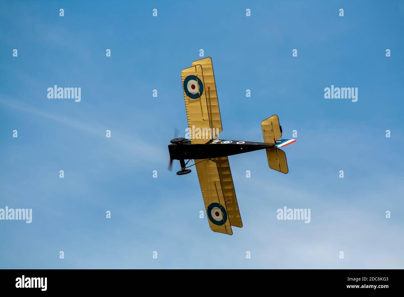 Une réplique de l'avion de chasse SE5 de la Royal Aircraft Factory Banque D'Images