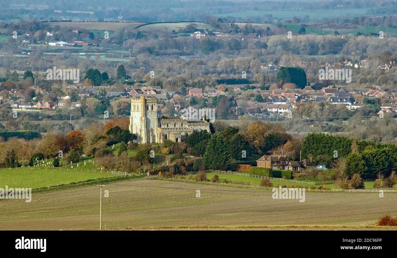 Église de Sainte-Marie la Vierge Edlesborough Buckinghamshire Angleterre Banque D'Images