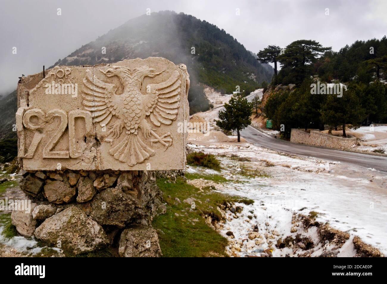Propagande communiste, Albanie du sud Banque D'Images