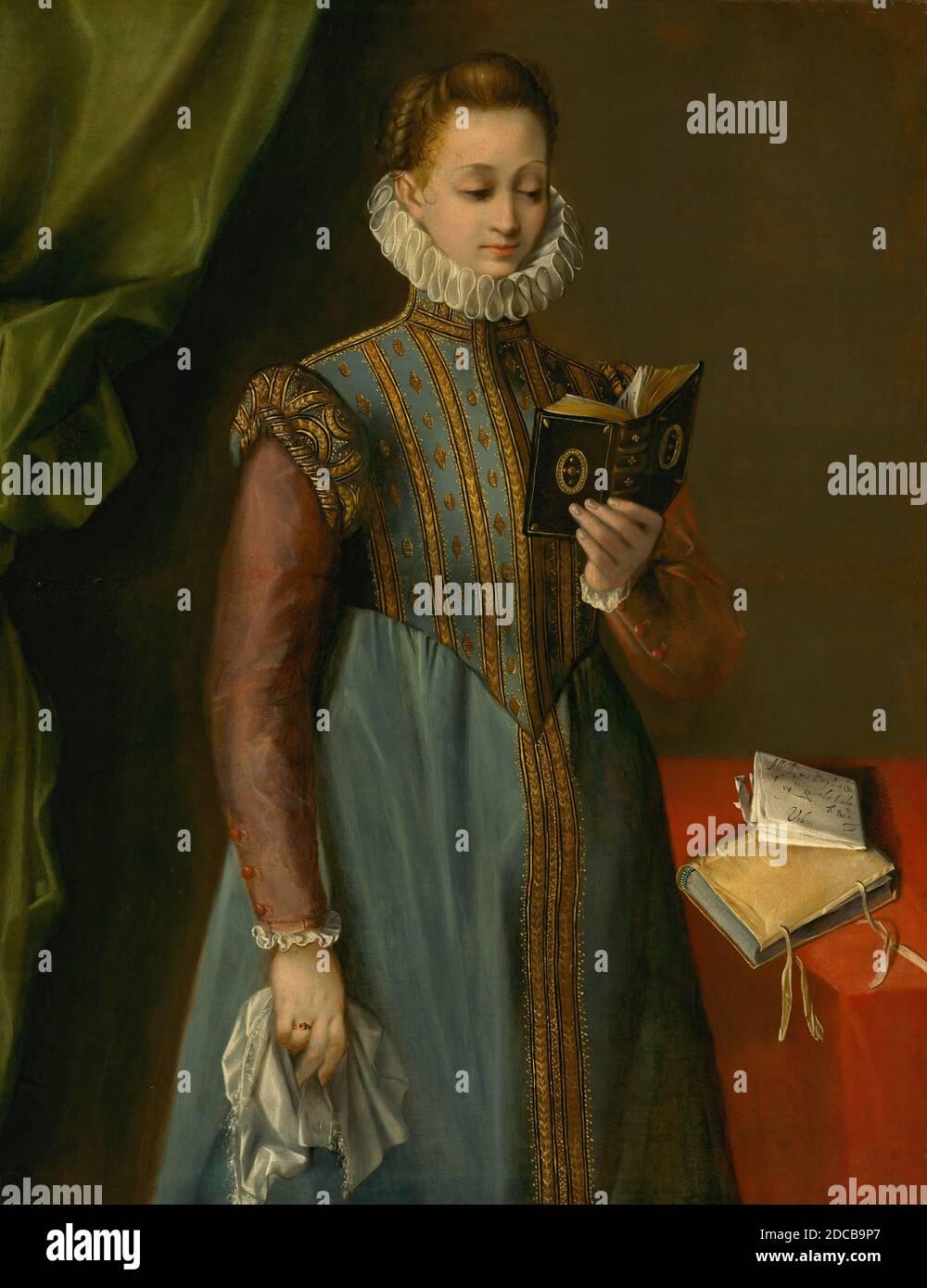 Federico Barocci, (artiste), italien, probablement 1535 - 1612, Quintilia Fischieri, probablement c. 1600, huile sur toile, hors tout : 123.8 x 95.3 cm (48 3/4 x 37 1/2 in.), encadré : 161.9 x 135.9 x 14 cm (63 3/4 x 53 1/2 x 5 1/2 in Banque D'Images