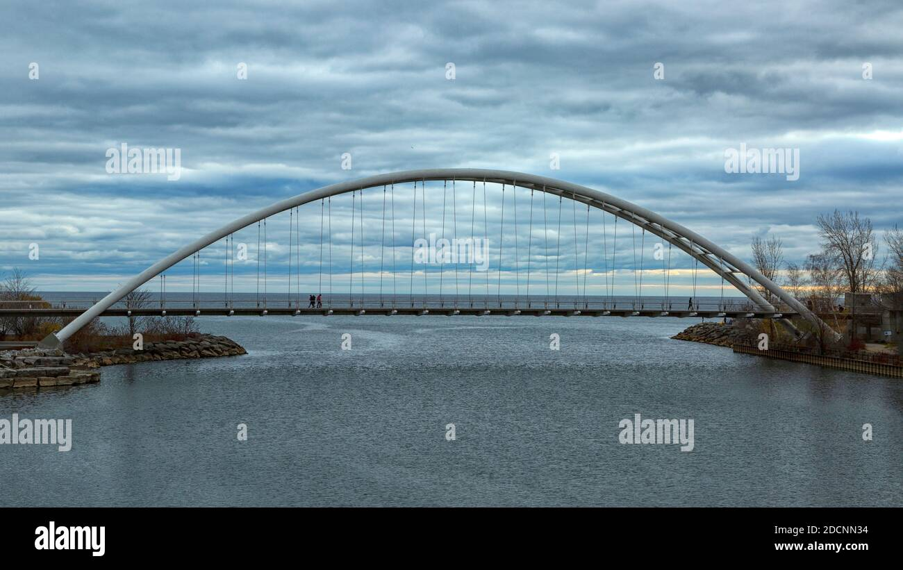 Pont Humber Bay Arch. Toronto Ontario Canada. Banque D'Images