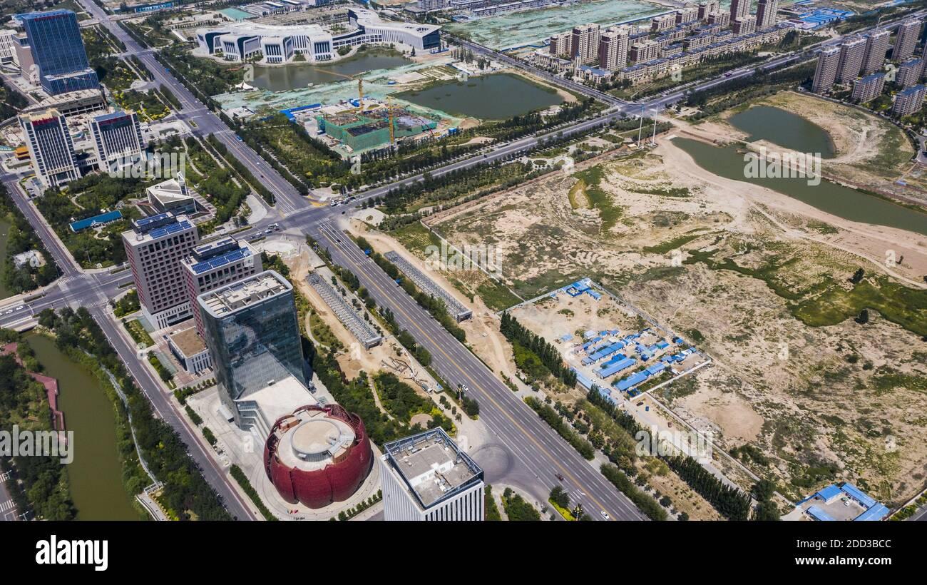 Yinchuan lire le quartier central des affaires du golfe est situé dans la région centrale de jinfeng district de yinchuan Banque D'Images