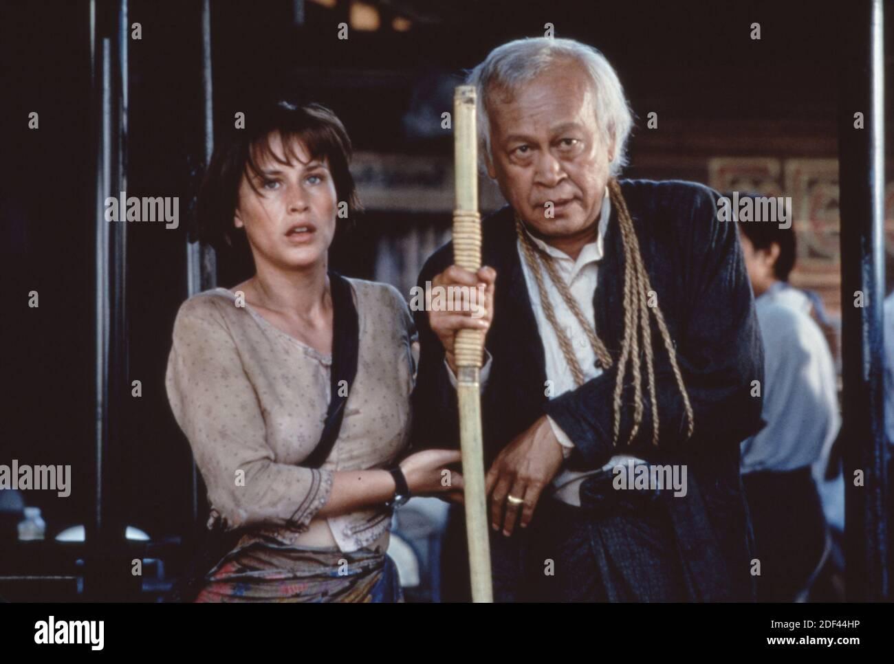Patricia Arquette et U Aung Ko au-delà de Rangoon Banque D'Images