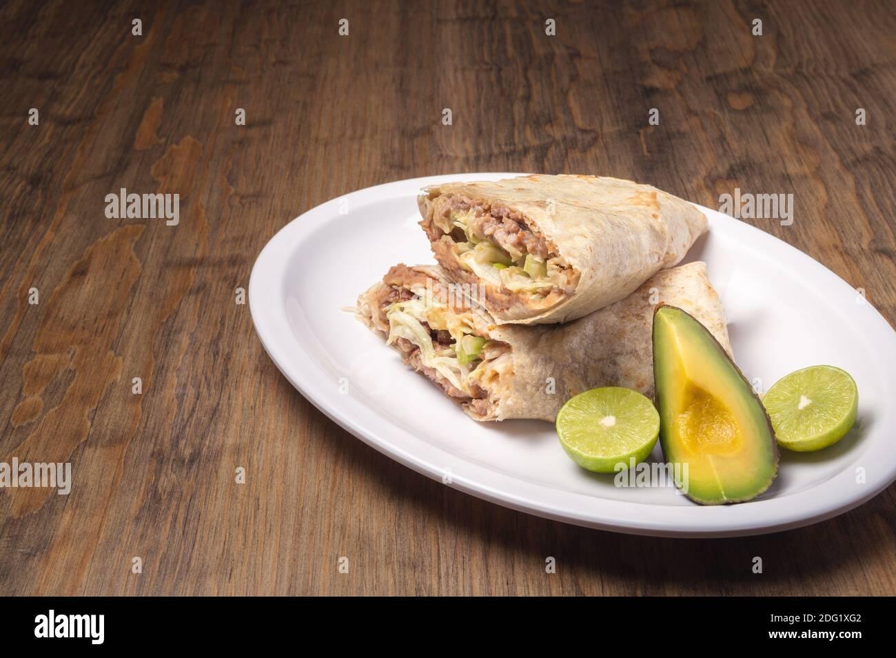 Cuisine gastronomique mexicaine traditionnelle. Cuisine mexicaine sur table. Banque D'Images