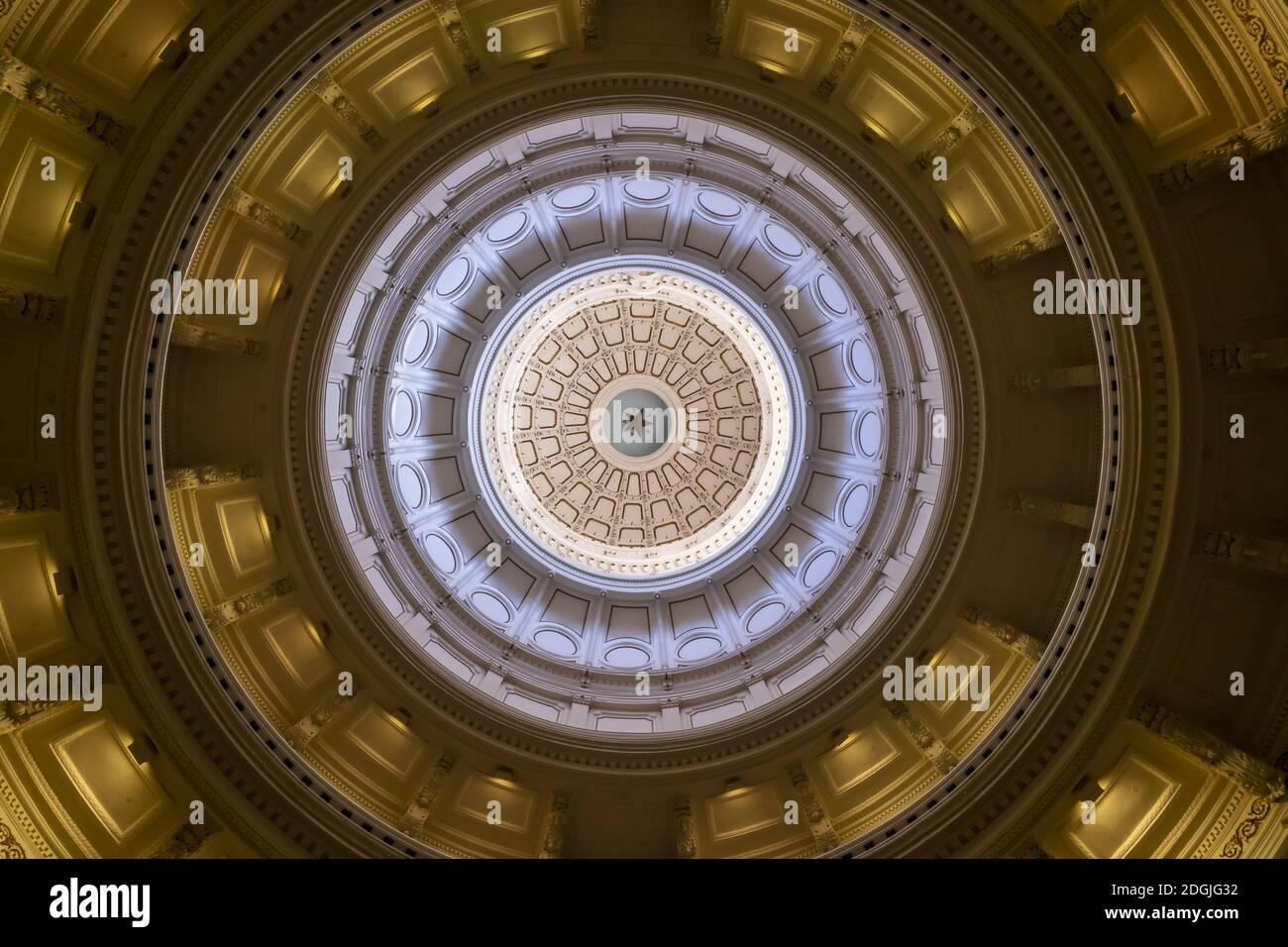 Vue aérienne de la ville d'Austin, Texas, le long de l' Fleuve Colorado Banque D'Images