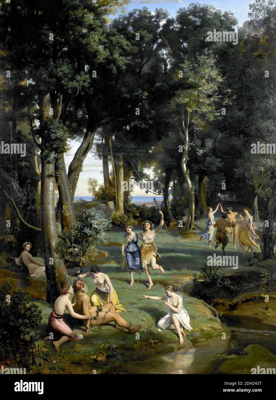 Silenus par Jean-Baptiste Camille Corot 1838 Banque D'Images