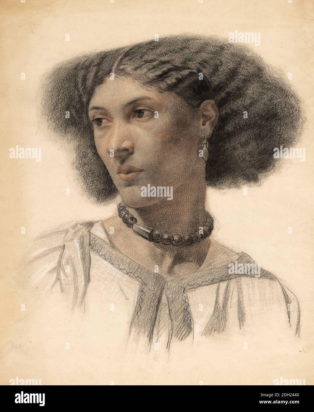 Fanny Eaton (1835 - 1924) modèle d'artiste jamaïcain connu comme modèle pour la Fraternité pré-Raphaelite et son cercle entre 1859 et 1867. Banque D'Images