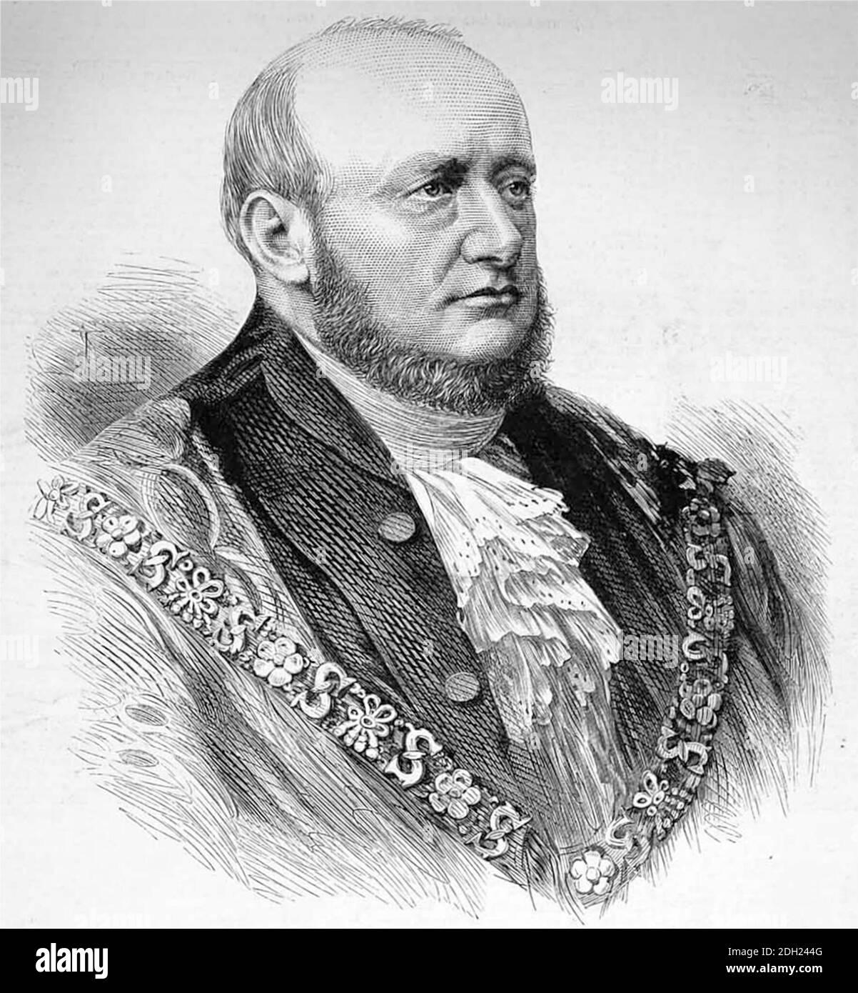 Alderman David Henry Stone (1812 - 1890) Lord Maire de Londres en 1849. Banque D'Images