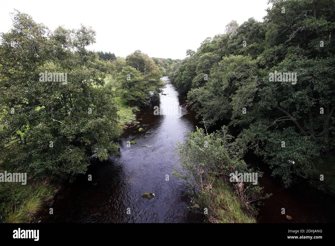 Le Coquet de la rivière en aval à Alwinton.Samedi 3 octobre 2020. Banque D'Images
