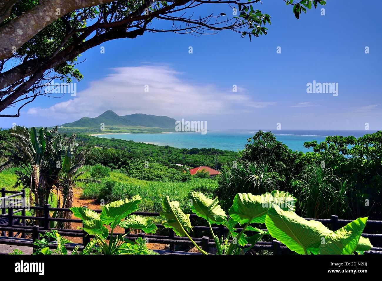 Vue panoramique, depuis Tamatorizak, Ishigaki, les îles Yahema, Okinawa, les îles Ryukyu, Japon Banque D'Images