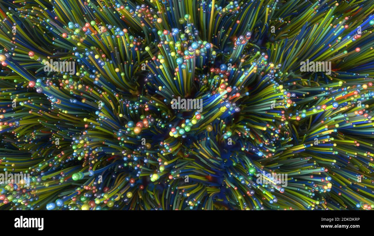 rendu 3d. Illustration d'arrière-plan abstraite et colorée Banque D'Images