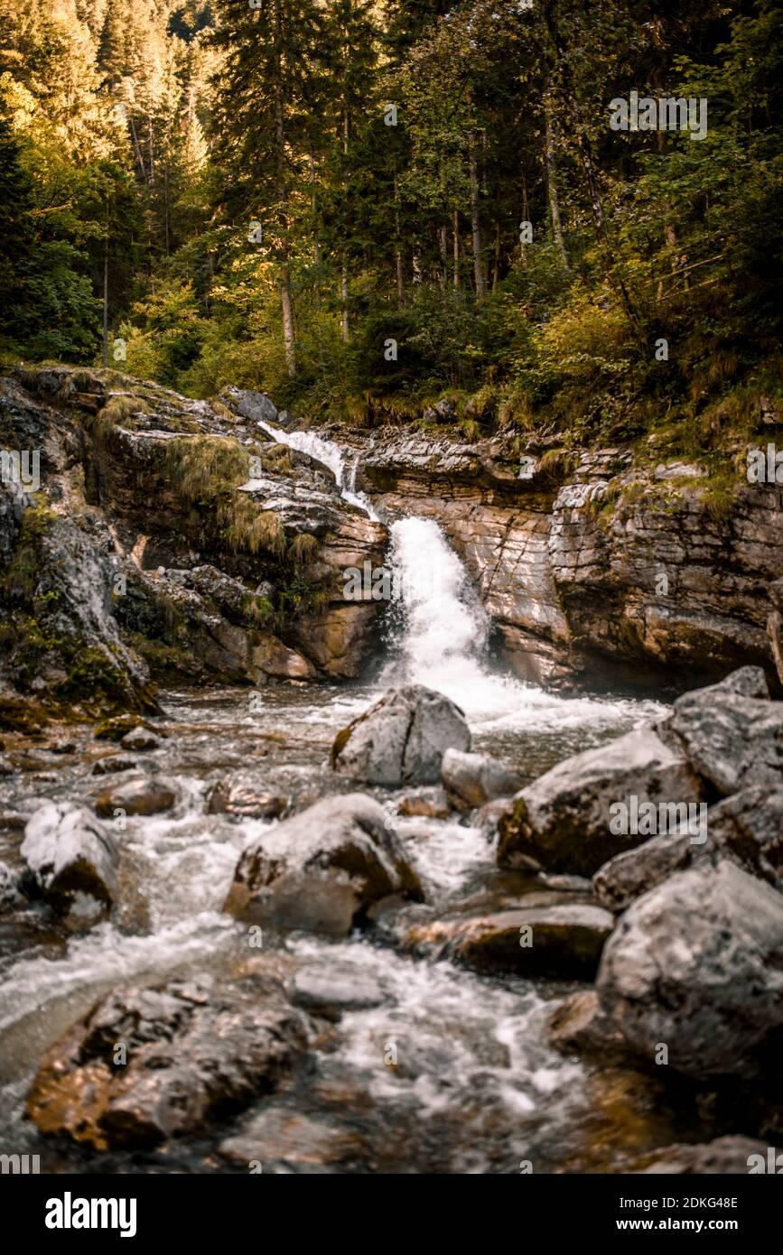 Kuhflucht waterfalls near Farchant, Germany, Bavaria, Garmisch-Partenkirchen Banque D'Images