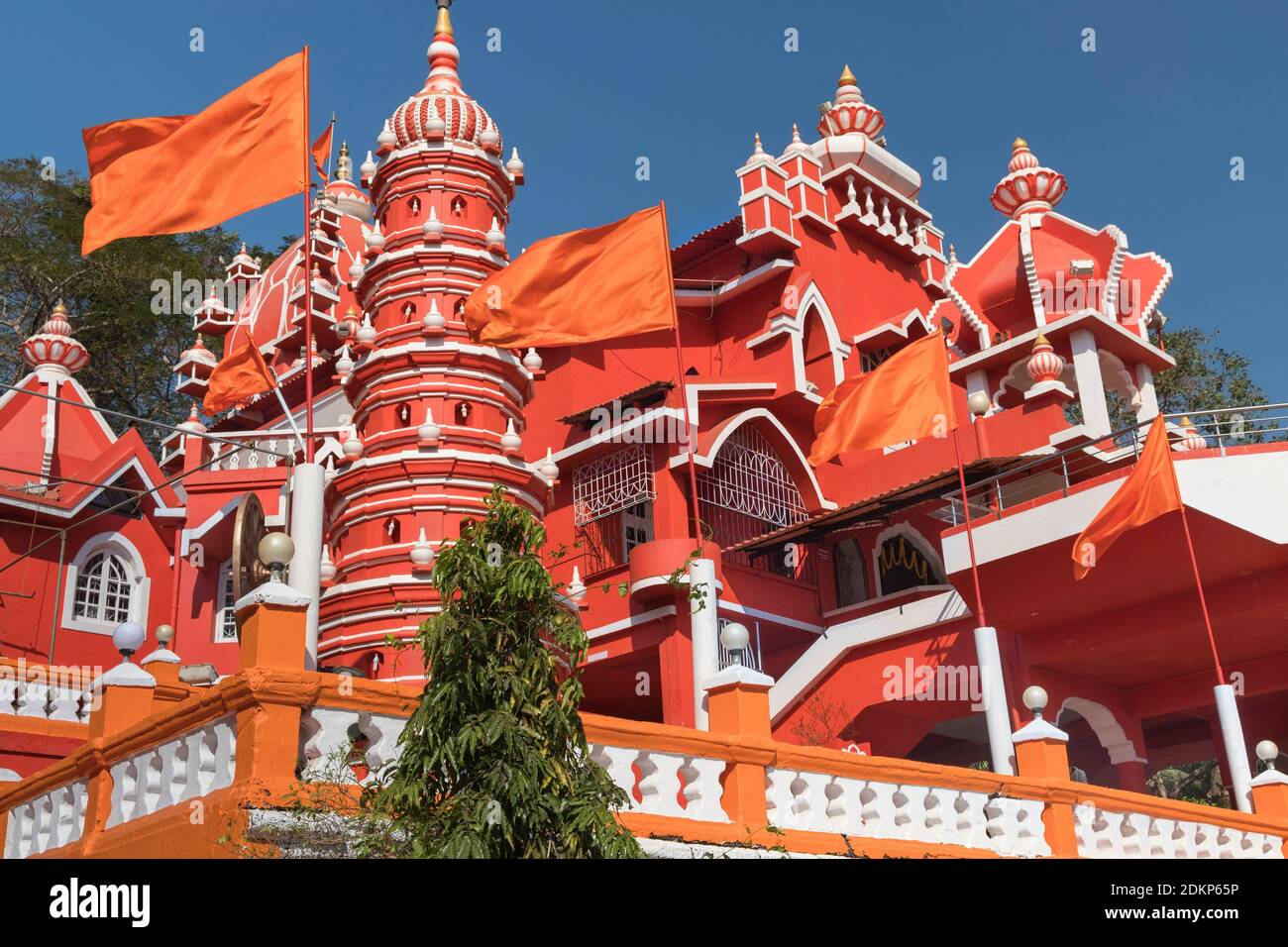 Maruti Temple Hindou Altinho Panjim Goa Inde Banque D'Images