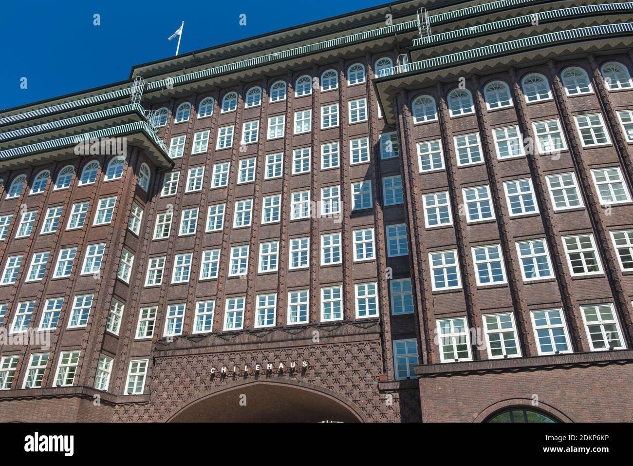 La Chilehaus Vieille Ville Hambourg Allemagne Banque D'Images