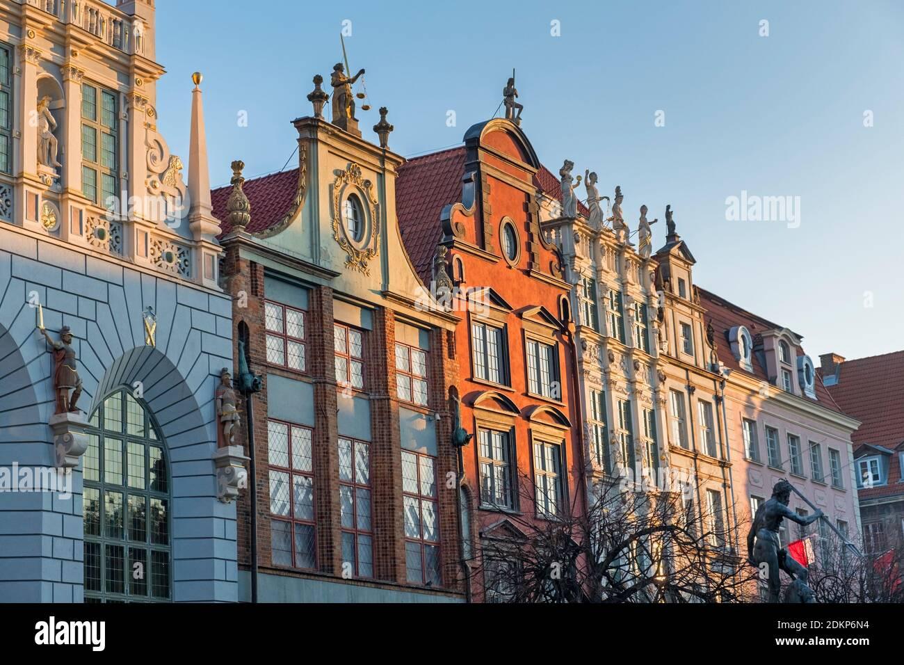 Dlugi Targ Long Market street Gdańsk Pologne Banque D'Images
