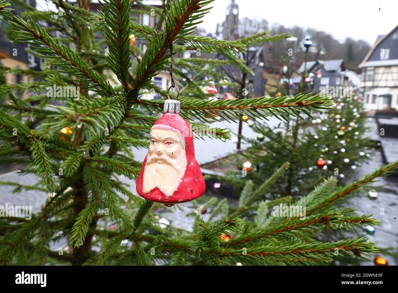 Sapin De Noël Pointe Lauscha Thüringer or rouge sapin Arbre De Noël Pointe