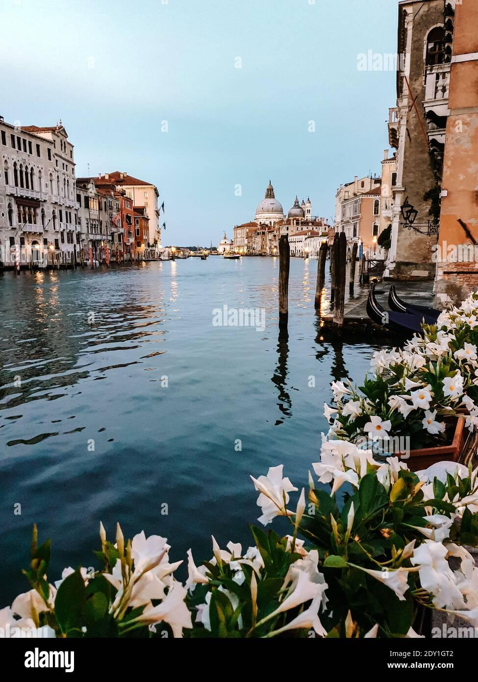 Italie Venise, ville presque vide de Venise pendant l'été 2020 avec la vague de pandémie de Covid 19 en Italie. Europe Venzia Banque D'Images