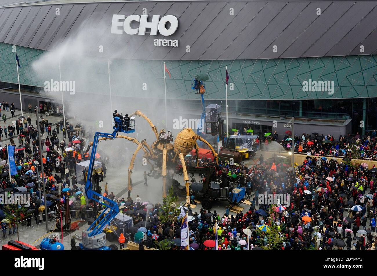La Princesse, l'araignée mécanique géante créée par la machine, à Liverpool en 2008, capitale européenne de la culture Banque D'Images