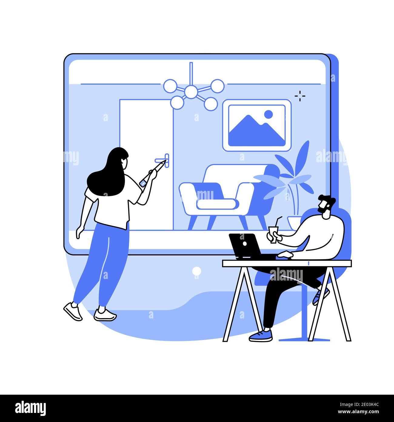 Design intérieur abstrait concept illustration vectorielle. Illustration de Vecteur