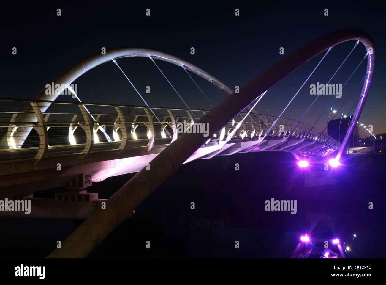Le Clyde SmartBridge à Glasgow, le Dalmarnock Smart Bridge. Banque D'Images