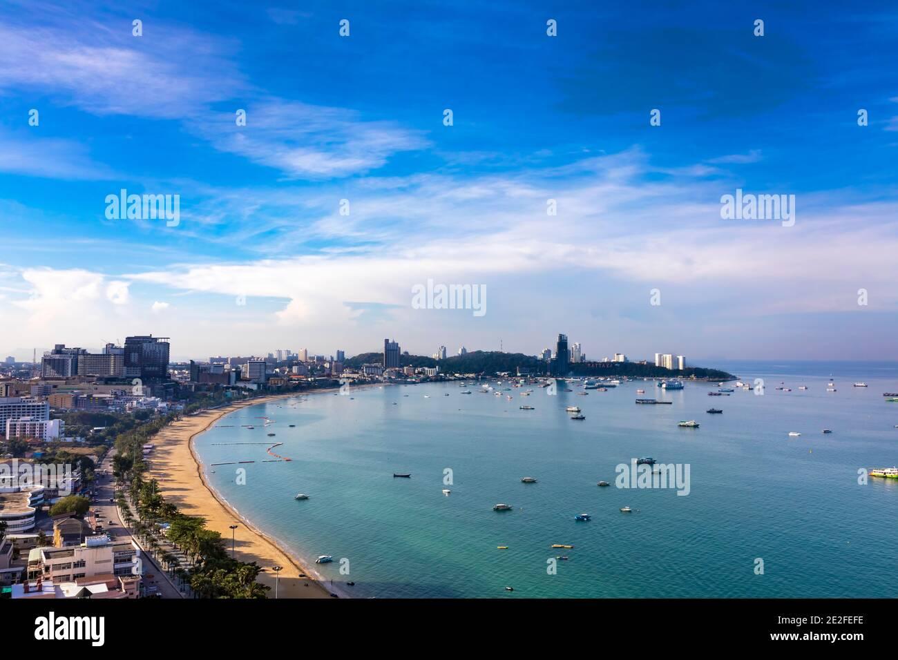 Pattaya paysage, Chon Buri, Thaïlande Banque D'Images