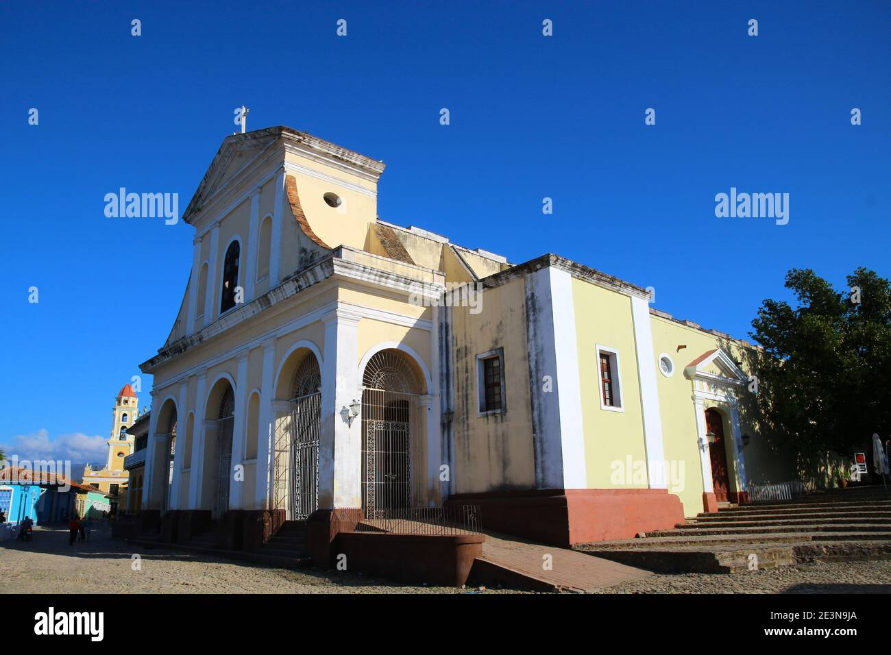 Église de la Sainte Trinité sur la Plaza Mayor à Trinidad à Cuba Banque D'Images