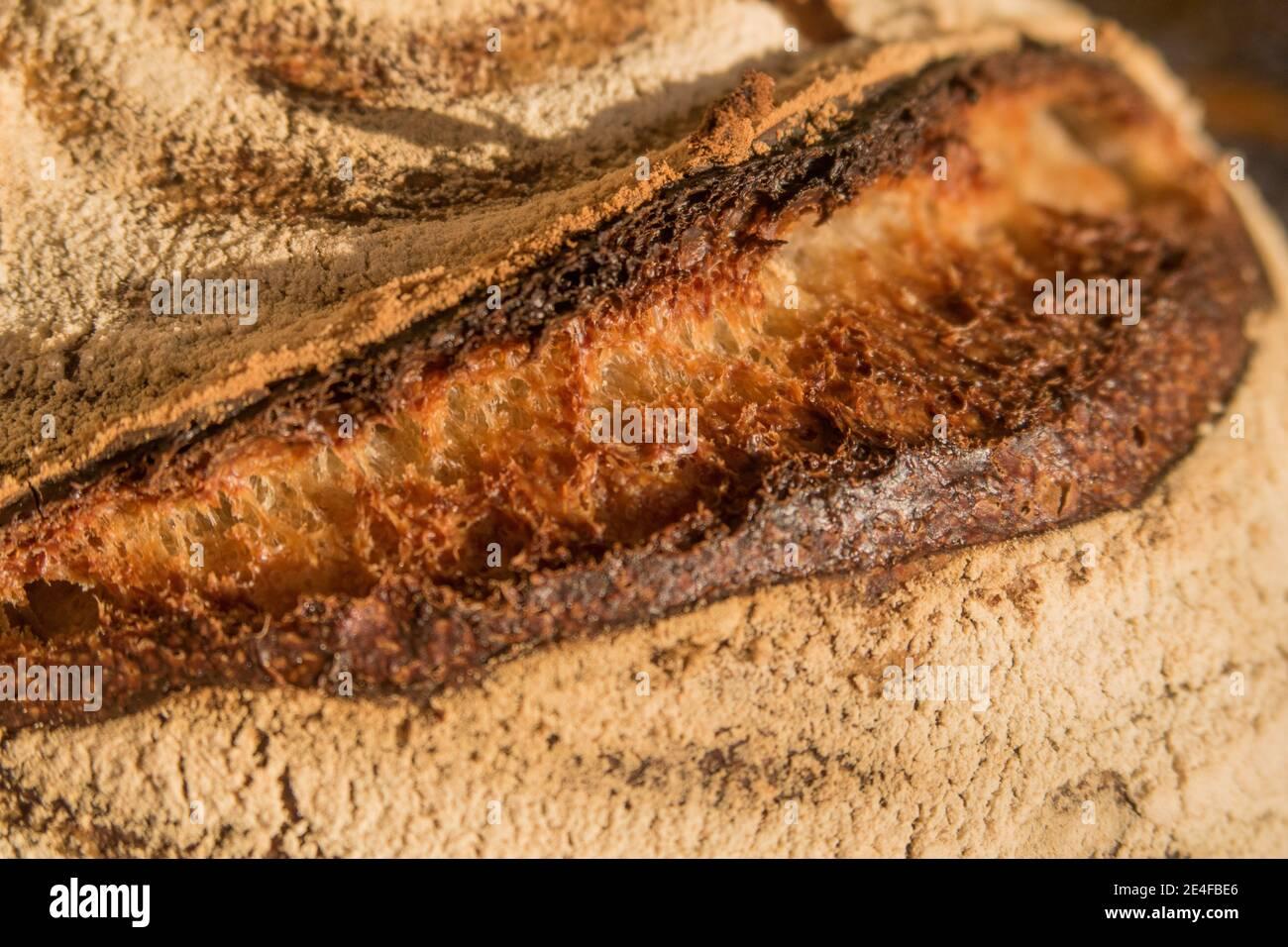 Un pain de levain brad Banque D'Images