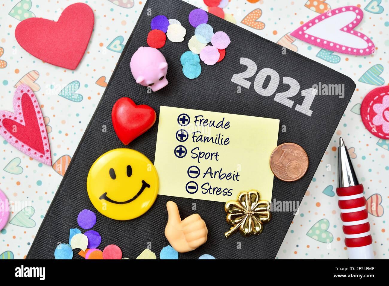 Résolutions du nouvel an, image symbolique Banque D'Images