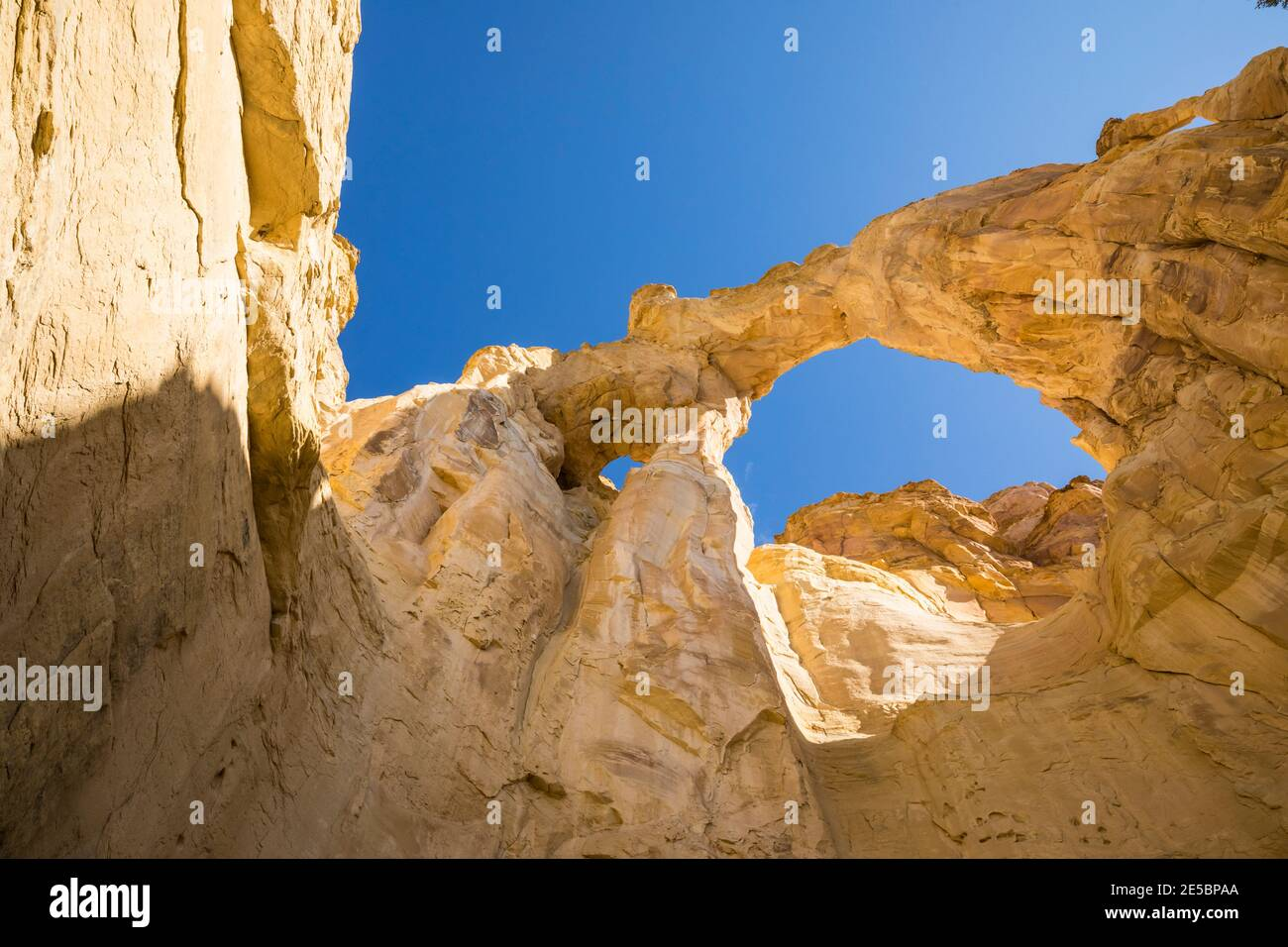 Grosvenor Arch, Grand Staircase-Escalante National Monument, Utah, USA. Banque D'Images