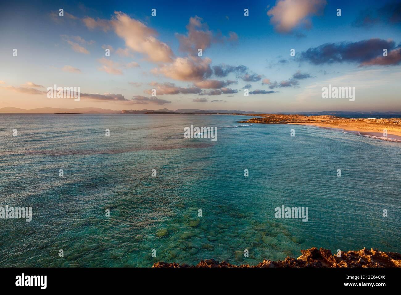 Incroyable plage exclusive de Formentera appelée « Illetes » Banque D'Images