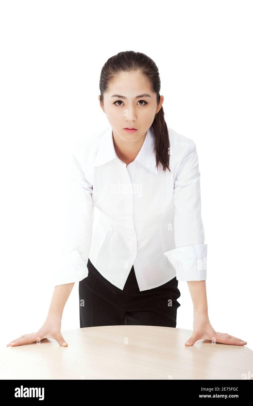 Femme d'affaires de mode orientale photo de haute qualité Banque D'Images