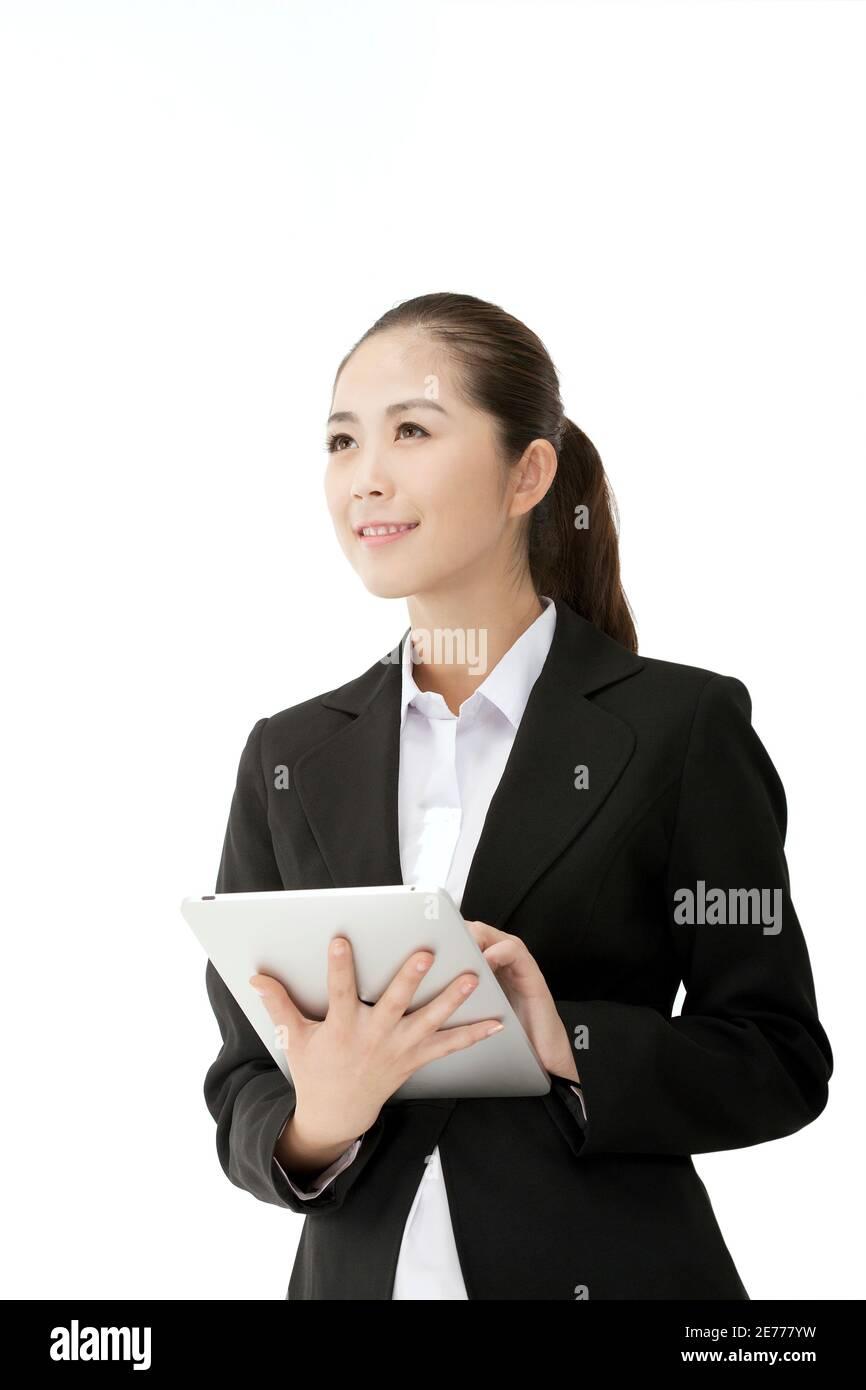 Femme d'affaires et IPAD photo de haute qualité Banque D'Images