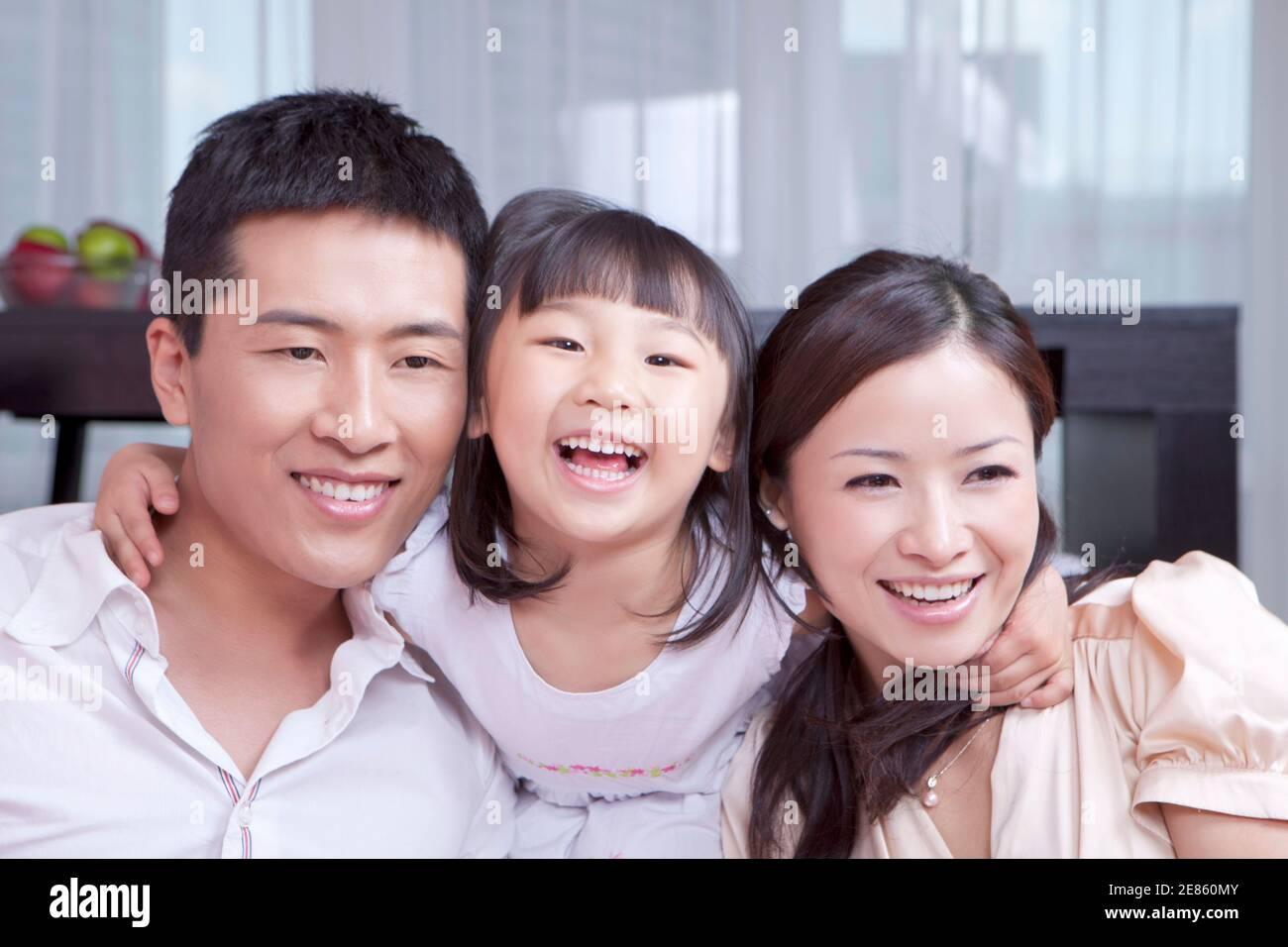 Portrait d'une famille heureuse photo de haute qualité Banque D'Images